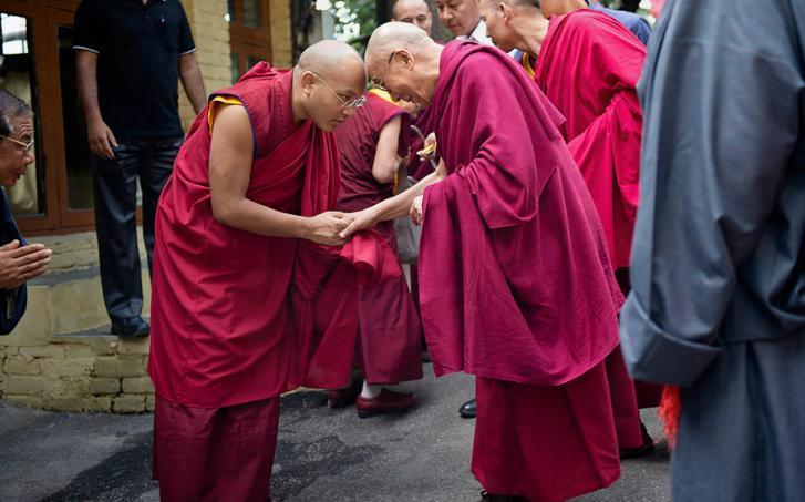 2012년 7월 6일, 17대 갤왕 까르마빠 존자님과 14대 달라이 라마 존자님