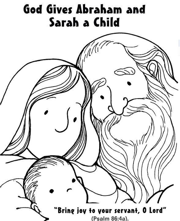 abraham sarah isaac coloring pages - photo#16