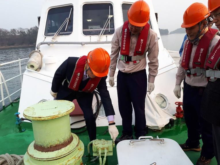 남해수산연구소(전남 여수) 수산과학조사선 탐구11호 안전관리 실태 점검