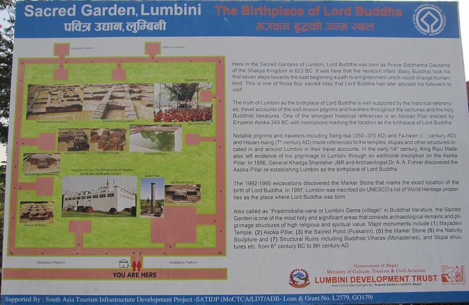 네팔(Nepal) 룸비니(Lumbini)의 마야데비 사원(Mayadevi temple)은 정확한 부처님 탄생지점(precise birthplace of Buddha)입니다.