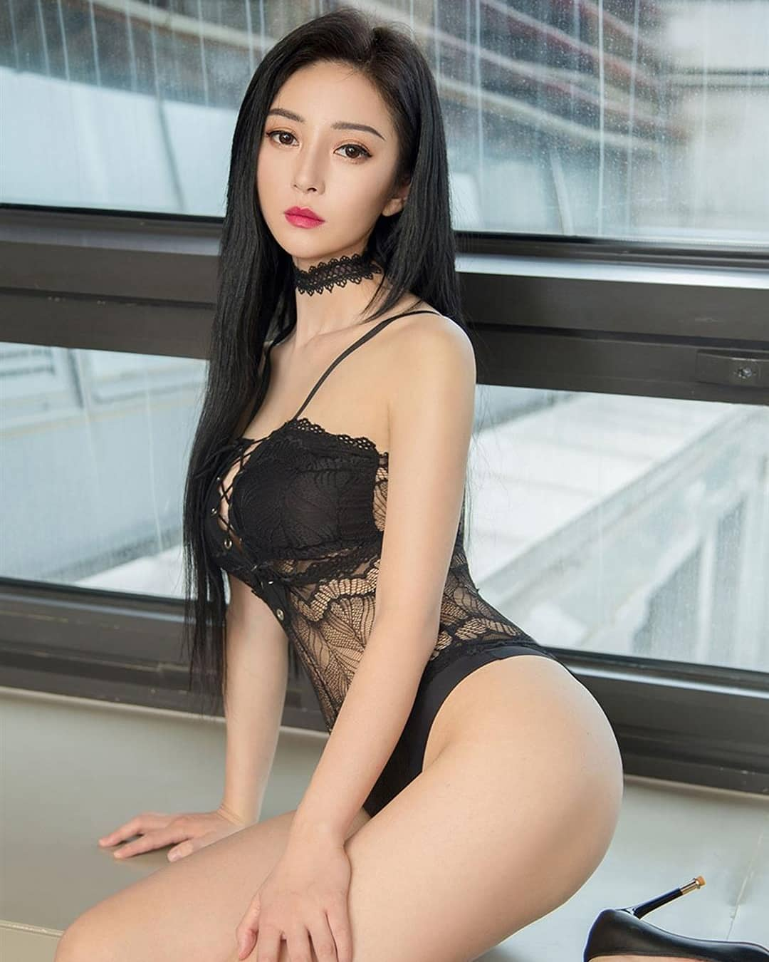 cool Chinese girl in sexy lingerie