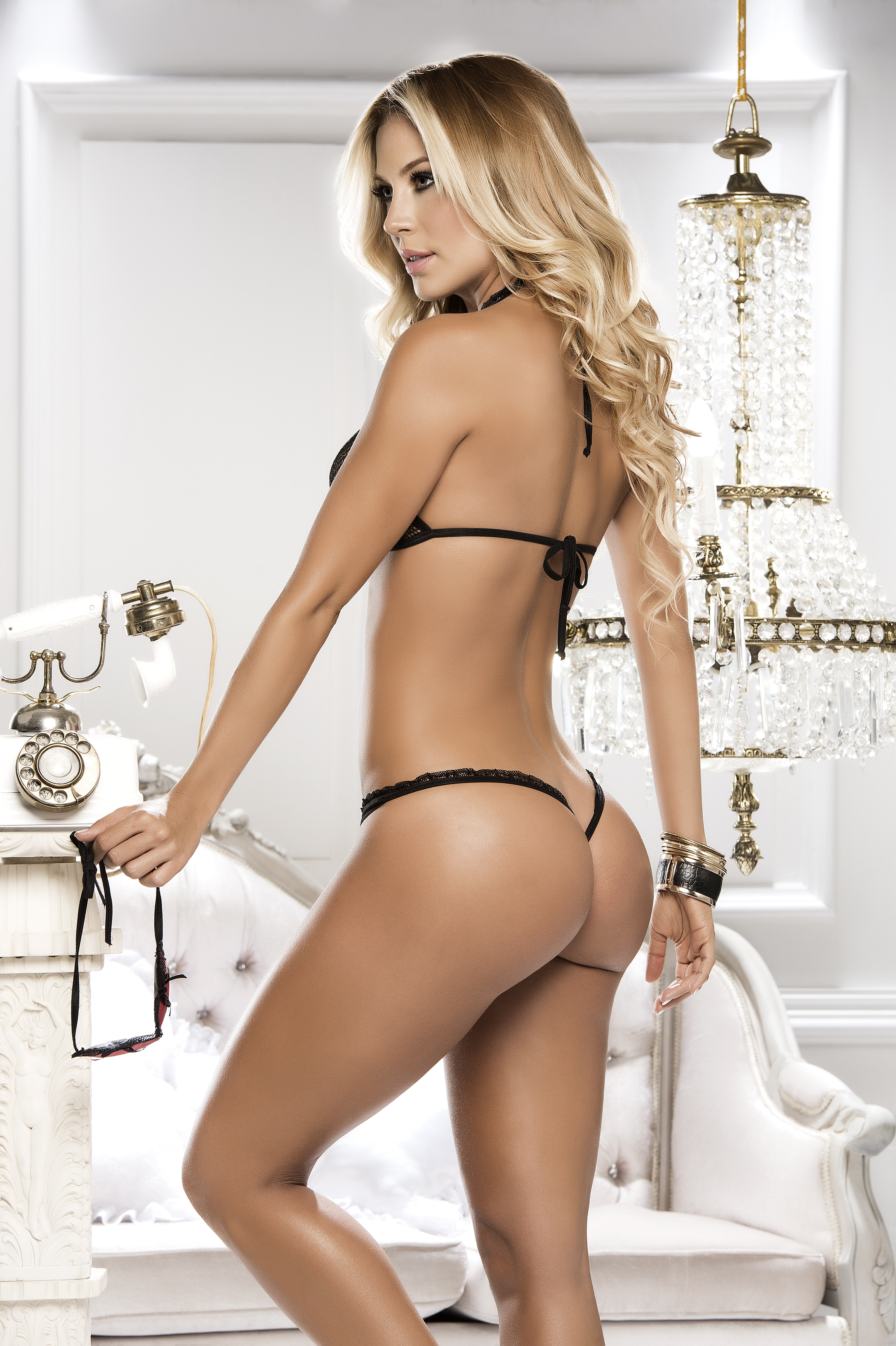 hot woman in sexy lingerie
